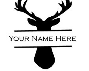 Buck Decal / Hunting Decal / Yeti Custom Decal / Yeti Rambler/ Custom Decal / Monogram / Custom Yeti Cup / Yeti Decal / Personalized Yeti