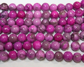 10mm Round Rose Phenix Stone Beads Genuine Natural  6347 15''L Semiprecious Gemstone Bead Wholesale Beads Supply