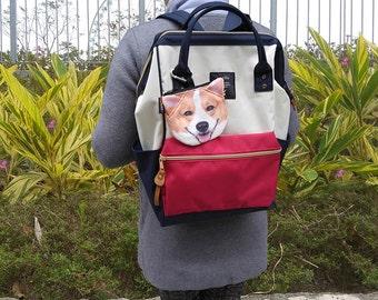 dog corgi coin corgi purse dog coin coin  purses   item coin-D111