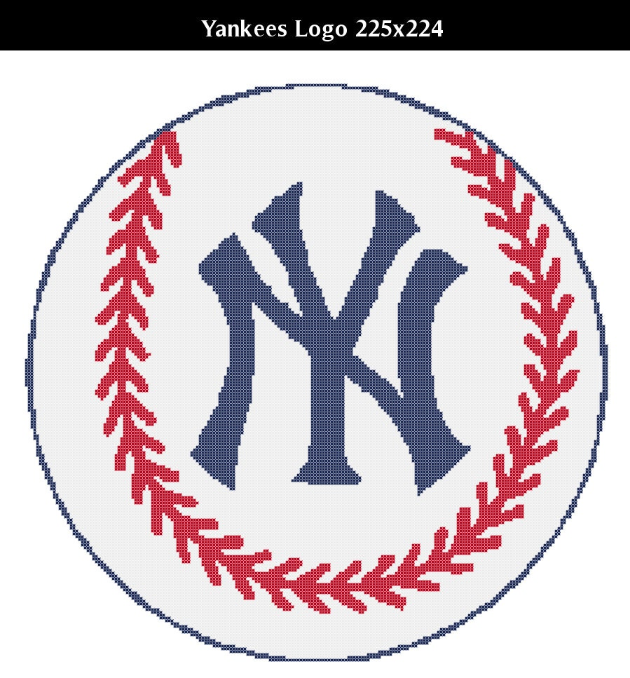 Ny yankees logo counted cross stitch chart patterns 3 sizes this is a digital file biocorpaavc Image collections