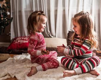 Christmas Pajamas, CUSTOM, Kid's Christmas PJs, Christmas PJs. Holiday Pajamas, Toddler Christmas Pajamas, Sibling Pajamas, Matching PJs
