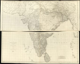 Poster, Many Sizes Available; Road Map Of India 1768