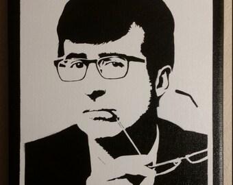 John Oliver  Stencil Spray Painting