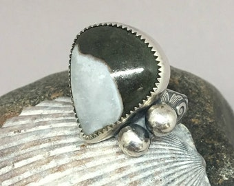 Sterling Silver Ring with Jasper Stone