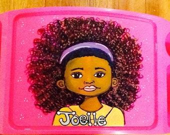 girls activity tray, girls tv tray, tv tray, game tray, homework tray,Self portrait activity tray, self portrait lap tray