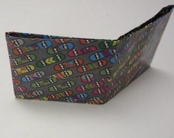 Skateboard wallet - duck duct tape