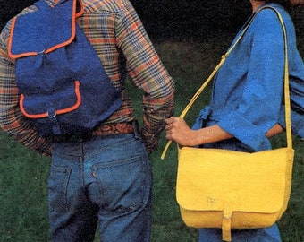 Vintage 70's Backpack & Shoulder Bag Sewing Pattern UNCUT Butterick 5290