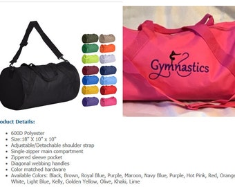 9d026be20997 Browse more items from Etsy. Personalized Gymnastics Duffel Bag -  Gymnastics Duffle Bag