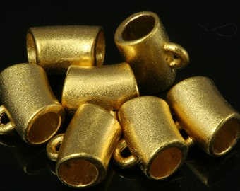 10 pcs 8 x 6 mm (hole 3,8 mm ) gold plated alloy charm hanger holder 117