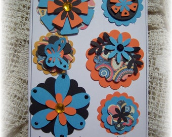 Layered Cardstock embellishments for Scrapbook,Journal ,Tag ,Handmade Card