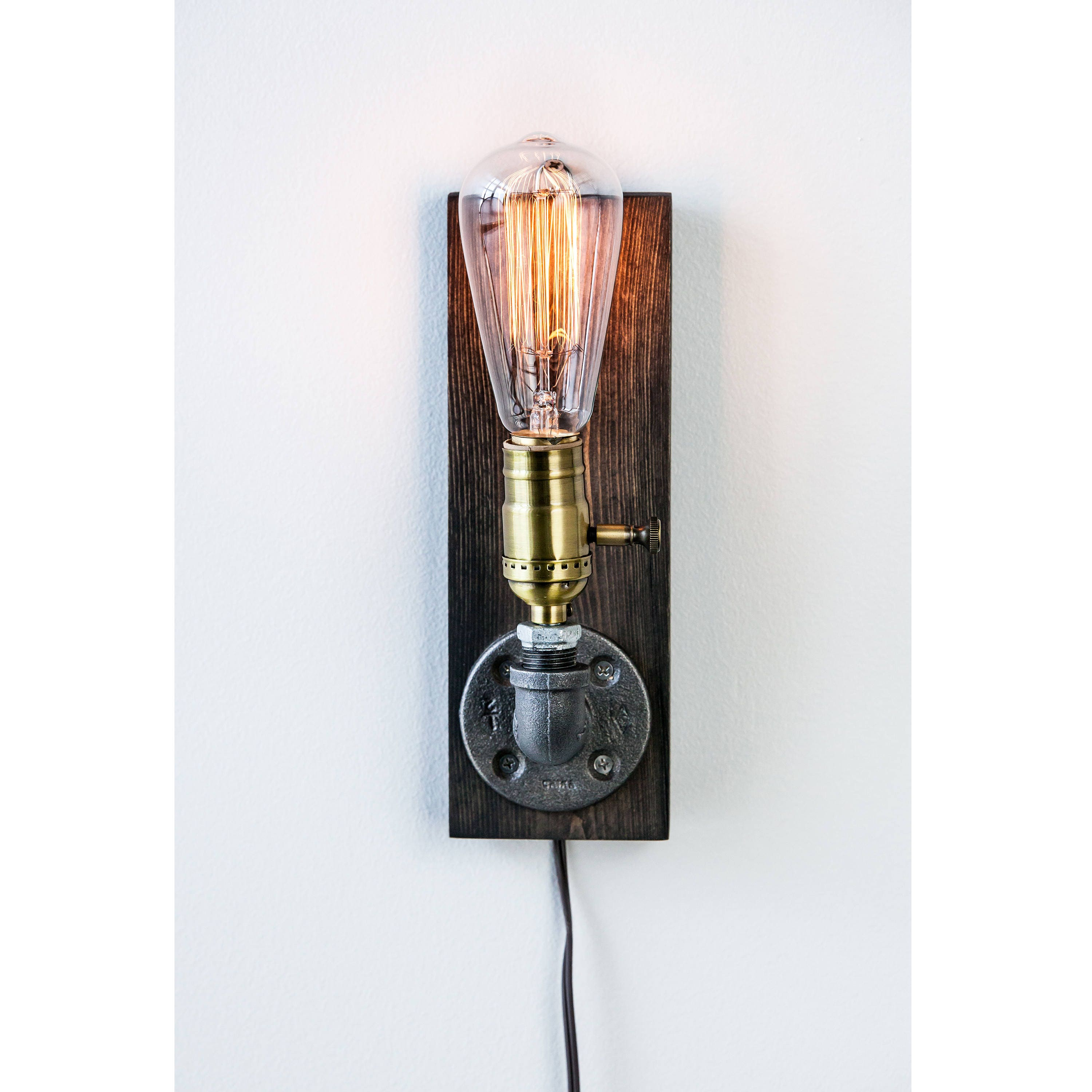 fullxfull lights sconce black il bedroom listing cffy lamp farmhouse industrial copper lighting bathroom wall vanity
