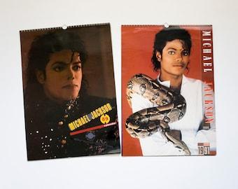 vintage 1989 and 1991 Michael Jackson calendars, large 12 month calendar, posters, photographs, prints, wall decoration