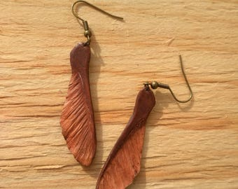 Leather Helicopters Earrings