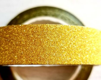 Sparkling Gold Metallic Washi Tape. Pretty tape. 1.5cm x 10m.