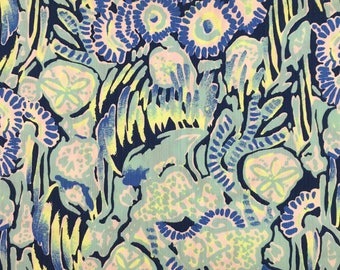 "indigo sunset swim dobby cotton fabric square 18""x18"" ~ spring 2017 ~ lilly pulitzer"