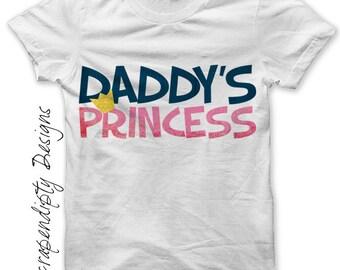 Daddy's Princess Iron on Transfer - Daughter Iron on Shirt PDF / Kids Girls Clothing Tshirt / Daughter Shirt / Princess Baby Clothes IT166