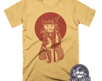 Cat Samurai Shirt | Japanese Clothing | Cat Lover Gift | Funny Cat Shirt | Japanese T Shirt | Funny Tshirts | Womens Shirts | Mens Shirt