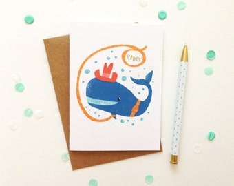 Howdy Whale Card