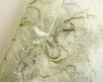 Special Decorative Craft Paper. Textile Art Supplies. Hand crafted. Soft Olive Green