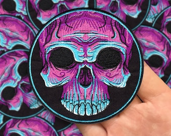 Embroidered Voodoo Skull Patch