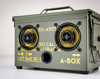 The Original Ammo Can BoomBox Bluetooth Speakers THODIO A-BOX™ .50 CAL