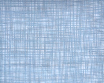 Orla Kiely printed fabric - scribble blue  *** SHIPPING INCLUDED ***