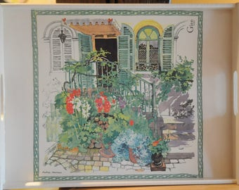 "Large tray in theme: ""Garden"""
