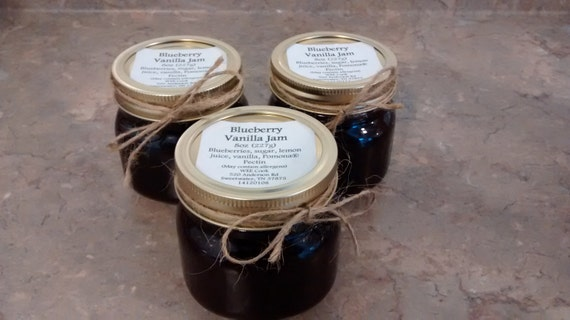 Strawberry Jam, Jam Relish Variety Pack, Food Gift, Blueberry Jam, Peach Jam, Preserves, Relish