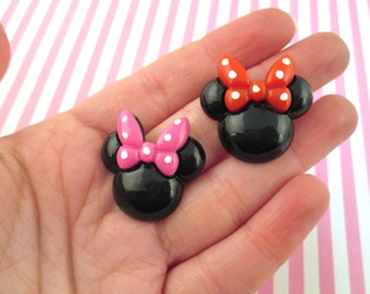 Multicolor Mouse Ear with Bow Cabochons, #766b