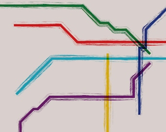 Buenos Aires Metro Map Poster - 20x16