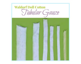 Waldorf Doll Tubular Gauze, Doll's Cotton Tubing, Inner Head Fabric, Waldorf Doll Making Supplies, Cloth Dolls, Fabric Dolls Supplies