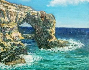 Аrch to the sea. Original Oil paintings on Canvas