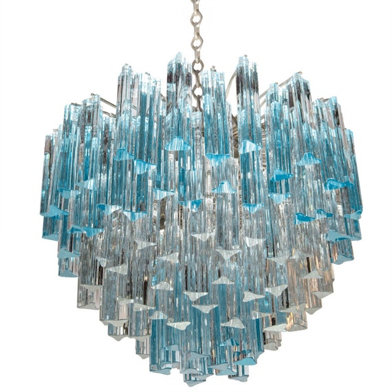 lustre murano verre italien acquamare triedri barres. Black Bedroom Furniture Sets. Home Design Ideas