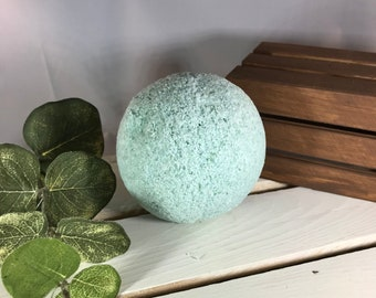 Stress Relieving Fizzing Large Bath Bomb Essential Oil Gift for Her Mother's Day Eucalyptus Spearmint Peppermint Aromatherapy Spa Gift Idea