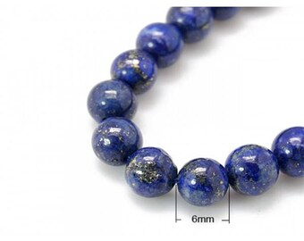 Lapis Lazuli beads 30 natural round 6mm