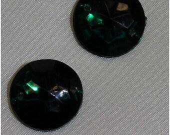 round acrylic rhinestone - 18 mm - Green