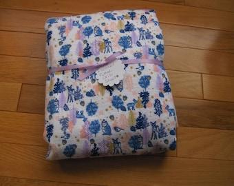 Crib Sheet,Toddler Bed Sheet,Flannel Crib sheet,Forest friends, Pink, Navy, Mauve, Purple
