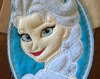 Snow Princess Cameo Patch