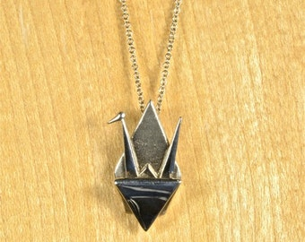 Earthwise Jewelry® Origami Peace Crane Necklace