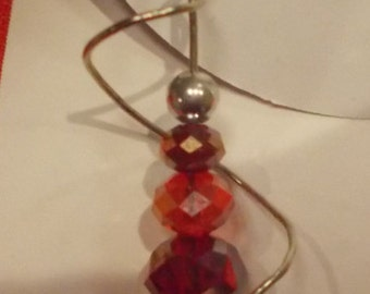 Red spiral pendant