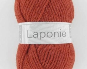 Chunky yarn and yarn of LAPLAND horse white N ° 150 brick