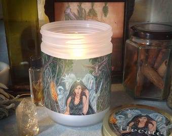 Hecate Candle Jar, Blessed Candle Included