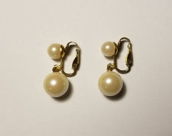 Classic Pearl Clip On Earrings