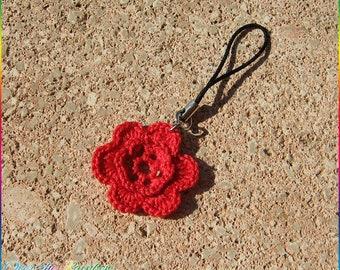 Phonecharm rose to Crochet