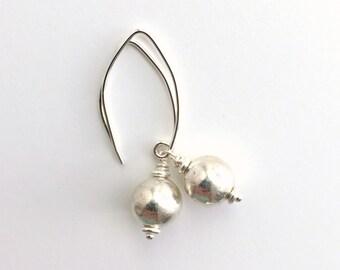 Sterling Silver Earrings. Everyday all Silver Earrings
