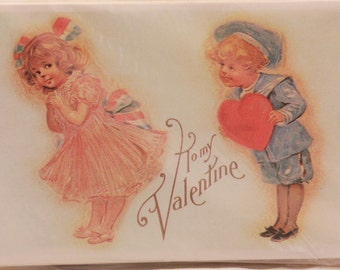 New/Old Stock. Package of 48 Valentine Post Cards Cards.