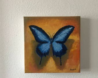 Butterfly Study (Oil Painting, Oil on Canvas)