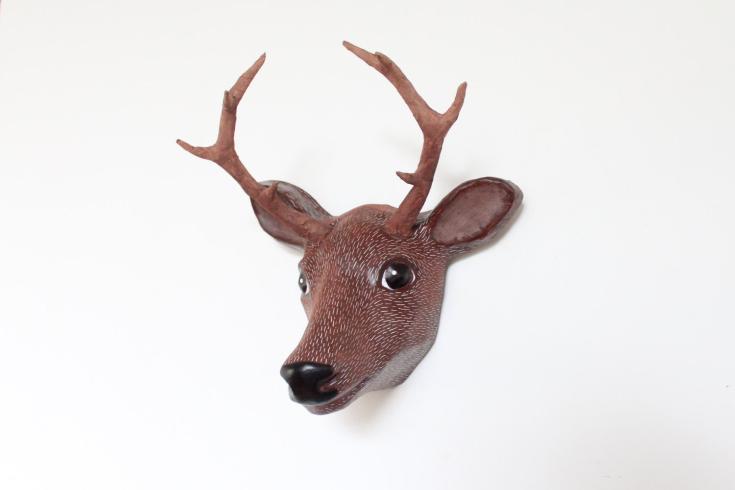 red wall size head index decor deer stag life