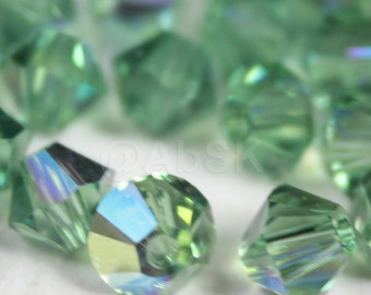 Swarovski Elements Crystal 5328 5301 Xillion Bicone Beads ERINITE AB - Available in 4mm and 6mm