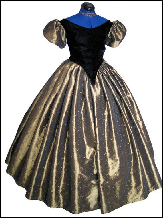 1800er Jahren Bürgerkrieg viktorianischen Ball Gown Kleid